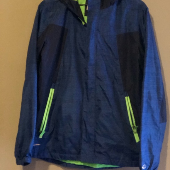 fashionable style another chance hot-selling discount Blue champion windbreaker with neon green details